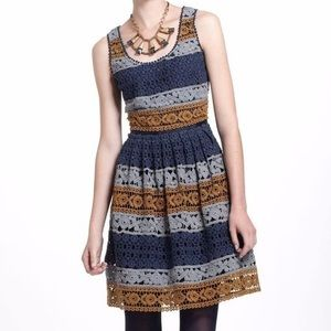 Anthropologie Maeve Crochet Striated Lace Dress